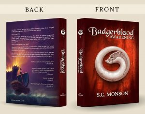 Badgeblood: Awakening paperback back and front cover graphic